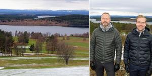 Golfklubbens ordförande Magnus Åsell och vd Tore Wedin.