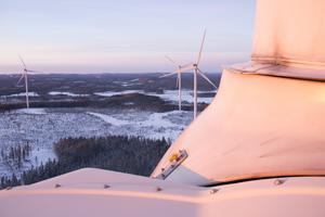 Vindkraftverken i Jädraåsparken var de första i Gästrikland som Vestas fick ta över skötseln av.