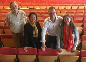 Lars-Göran Johansson (S), Susanne Norberg (S), Jonas Lennerthson (S) och Maj Ardesjö (MP) presenterade under fredagen partiernas gemensamma budgetförslag.