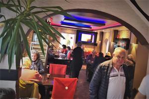 Bild från dagen. Fullt hus på Espana pizzeria i början på december.  Foto: privat.