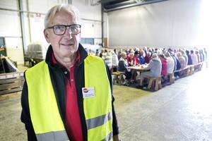 Urban Gisselson har varit med och arrangerat husbilsträffen. Han känner sig nöjd över att ha lockat så många till Söderhamn.