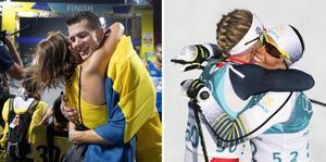 2020 var ett år då inte bara sporten och vinstfiranden fick stå tillbaka – så även kramarna. Foto: Jessica Gow/Andreas Hillergren