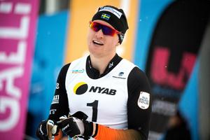 Oskar Svensson efter sprintfinalen vid Sverigepremiären i helgen. Foto: Ulf Palm/TT Nyhetsbyrån.