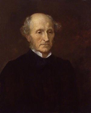 Den liberale nationalisten John Stuart Mill. Målning av George Frederic Watts från 1873.