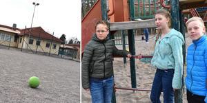 Karin Faxén, Edvin Pernefalk och Axel Westerlund protesterade ljudligt när de fick beskedet om omstruktureringarna.