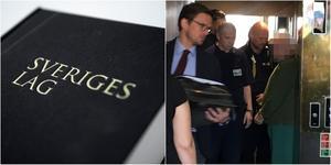 Den 58-årige föreståndaren förs in i hissen efter avslutad förhandling. Foto: Torbjörn Granström