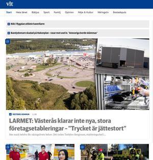 VLT:s sajt har sett olika ut under åren, men har funnits på nätet sedan 1996.