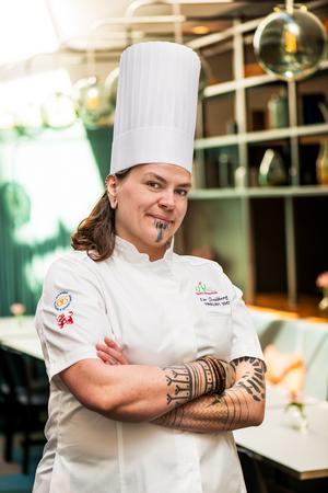 Tårtkostnären Liv Sandberg från Järna har bland annat deltagit i Årets konditor. Foto: Sveriges bagare och konditorer