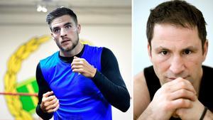 Erik Skoglund och ex-proffsboxaren Paolo Roberto (till höger). Bild: TT Nyhetsbyrån.