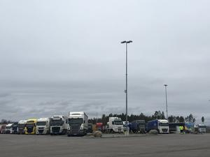 På Brändåsen och Truckstop i Örebro finns uppställningsplatser för lastbilar.