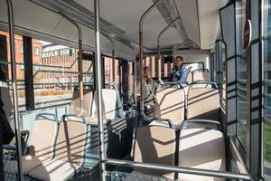 Större fönster och bredare tak ska ge passagerarna en känsla av öppenhet.