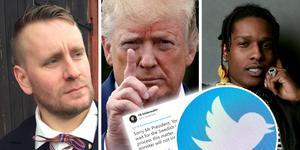 Viktor Adolpson, Donald Trump och Asap Rocky. Arkivfoto: Sara Telde, TT