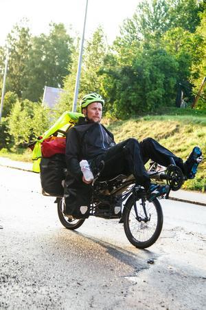 Här var det nära till målet, hembyn Färila, Ljusdal. Foto: Staffan Bergner