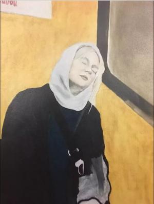 Människor är centrala i Tuva Gustavssons måleri. Nu har Tuva utsetts till årets ungdomskulturstipendiat i Säter.