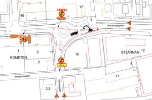 På Skara energis hemsida finns det mer information om hur trafiken kommer att påverkas under arbete. Bild: Skara energi