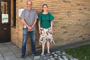 Energichef Magnus Nordenmark och förvaltningschef Nicole De bruyn på Solatum.