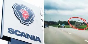 """""""Vi kan inte se någon annan orsak till det här än förarens beteende"""" har Hans-Åke Danielsson, kommunikationsansvarig på Scania, tidigare sagt till LT. Foto: LT/polisen"""