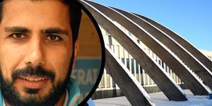 Fesal Alyas vill måla Maserhallens bågar i regnbågens färger.