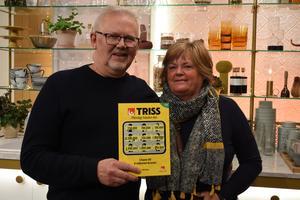 Eva och Lars Bergman skrapade fram en kvarts miljon kronor i TV4. Bild: Svenska spel.