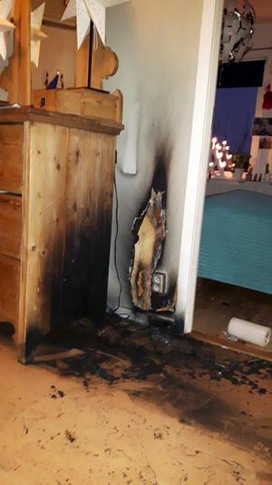 Foto: Privat.12 dagar tog det att sanera efter branden i hallen.
