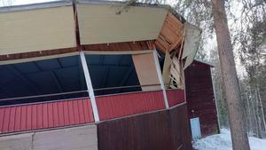 Dansbanan från en annan vinkel. Här ser man hur taket inne på rotundan går rakt ner mot golvet. Bild: Privat