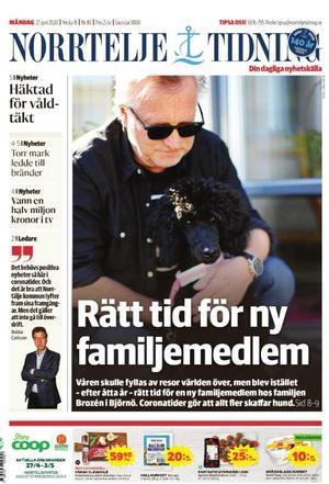 Norrtelje Tidning, 27 april.