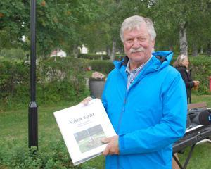 Kenneth Lindström har varit mycket delaktig i den treåriga byggtiden av askgravplatsen. Foto: Sture Björk