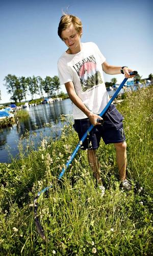 Martin Aakre tycker att han fått ett bra sommarjobb.