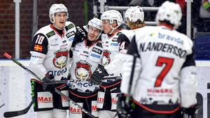 Malmös Rhett Rakhshani blev stor hjälte med sina två mål mot Färjestad. Bild: Fredrik Karlsson.