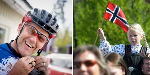 När det är 17 maj firas det högt och lågt i både Norge och Sverige. När Hölöbon Atle Hansen var liten grabb traskade han själv på Karl John och vinkade till kungen på syttende maj. Foto: Mattias Holgersson och TT
