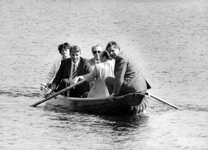 Nordiska statsministrar på båttur i Harpsund 1981. I Mauno Koivistos regering satt bland annat Svenska Folkpartiet.