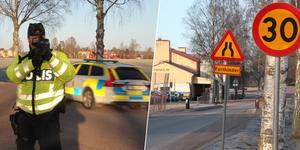 Sju bilister överskred 30-gränsen förbi Kyrkskolan under yrkestrafikgruppens kontroll på fredagsförmiddagen.