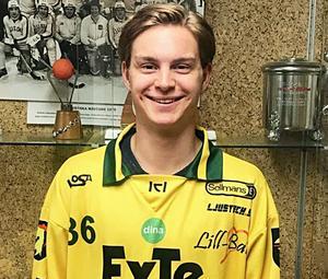FOTO: LJUSDALS BK   Caspher Ekström ska leverera mål i Ljusdals BK – och det har börjat ganska bra.