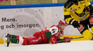 Daniel Ljunggren började bra, men var gjorde några olyckliga misstag i andra perioden. I tredje fick han vila.