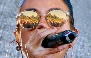 Rapparen och aktivisten Maxida Märak har Nacksta och Nackstaborna för ögonen när hon förmedlar sin musik under årets festival.