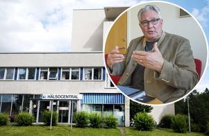 Bildkollage. Göran Bergström och Backe Hälsocentral i Strömsunds kommun.