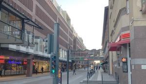 Stora gatan från Kopparbergsvägen västerut. 2019.