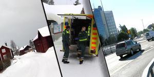 Bor du i Borlänge kan du räkna med en ambulans i rätt tid. I Älvdalen kan du få vänta länge. Skillnaden i utryckningstid mellan landsbygd och tätort är stor i Dalarna. Montage. Foto: Sven Thomsen, Jan Svensson och Mats Laggar