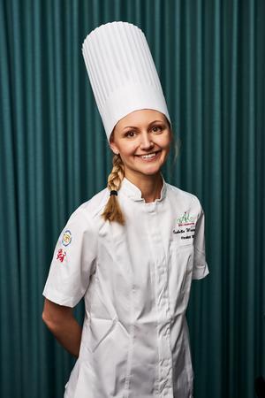Isabella Westergren var en av årets finalister som gjorde upp om titeln årets konditor, som nu är hennes. Pressbild