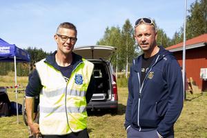 Bo Petterson, tävlingsledare, och Claes Engström, arrangör från Bollnäs CK.