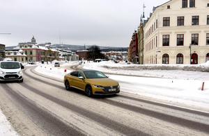 I det nya förslaget ändras inte antal filer på sträckan Sjögatan till Tivolibron.