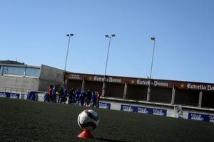 Unió Atletica D'Horta har en anläggning med konstgräs modell dörrmatta.