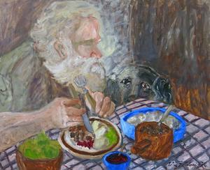 """Ester Zetterbergs målning """"Blir det något kvar åt mig?"""""""