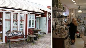 Ägaren Elisabeth Eriksson har drivit sin butik hemma på tomten i sex år.