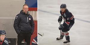Kramfors tränare Thomas Högström (t.v) och Andreas Lockner.