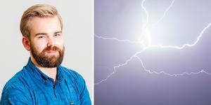 Erik Rindeskär spår en blöt eftermiddag och kväll på sina håll i Västernorrland. Fotot är ett montage. Bilder: Foreca / TT