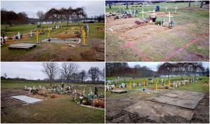 Antalet gravsättningar på Tveta kyrkogård har varit många under coronapandemin.
