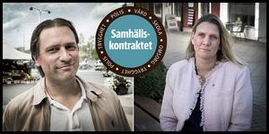 Olle Reichenberg, ordförande och Hanna Stymne Bratt, 2:e vice ordförande för KSON. Bild: Lars Pehrsson/SvD/TT/Linnea Wiström