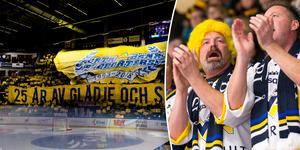 HV71-fansen ställer in resan till Gävle. Bild: Ola Westerberg (Bildbyrån).