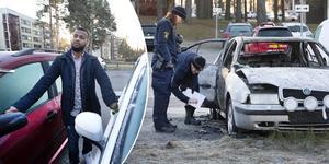 Mohammed Adan hade turen att fortfarande ha en bil att köra till jobbet med i morse.